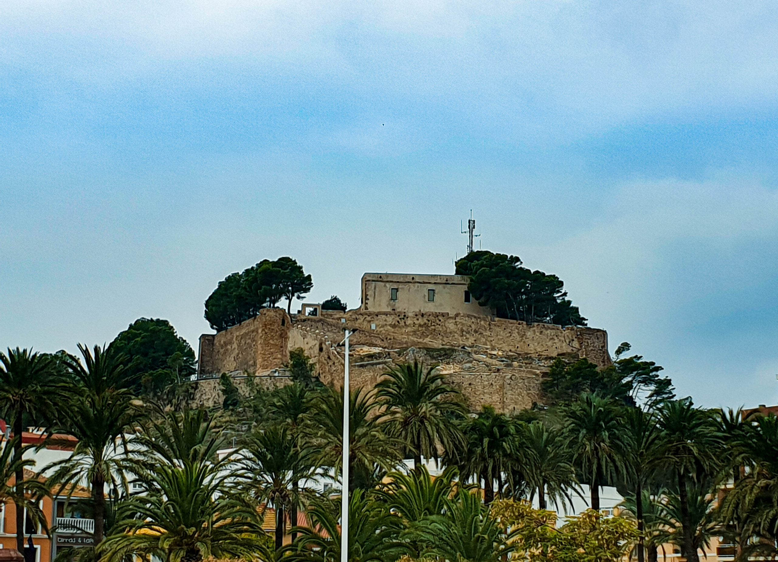 Castle Denia with Incoming Spain